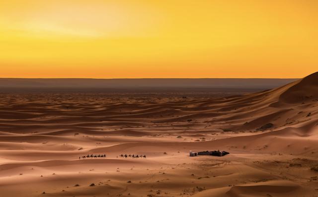 acampamento de luxo no deserto do Saara
